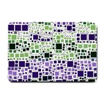 Block On Block, Purple Small Doormat  24 x16 Door Mat - 1