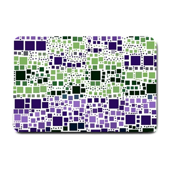 Block On Block, Purple Small Doormat