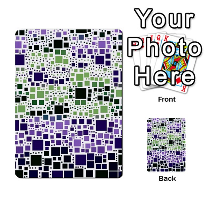 Block On Block, Purple Multi-purpose Cards (Rectangle)