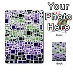 Block On Block, Purple Multi-purpose Cards (Rectangle)  Back 9