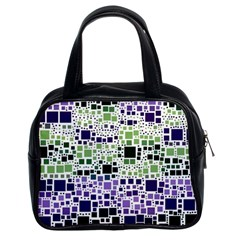 Block On Block, Purple Classic Handbags (2 Sides)