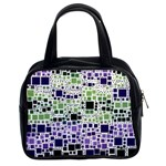 Block On Block, Purple Classic Handbags (2 Sides) Front