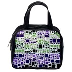 Block On Block, Purple Classic Handbags (2 Sides) Back