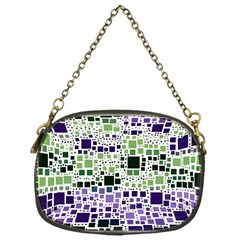 Block On Block, Purple Chain Purses (One Side)