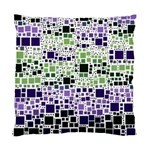 Block On Block, Purple Standard Cushion Case (Two Sides) Back