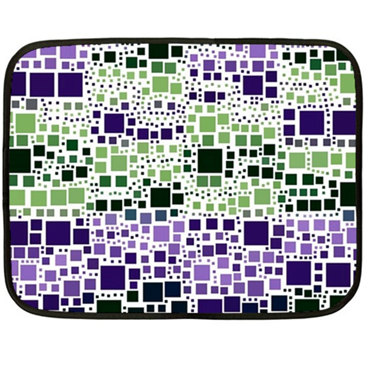 Block On Block, Purple Fleece Blanket (Mini)