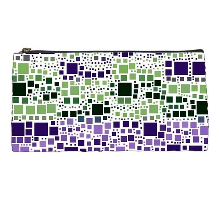 Block On Block, Purple Pencil Cases