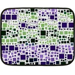 Block On Block, Purple Double Sided Fleece Blanket (Mini)  35 x27 Blanket Back