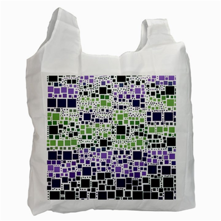 Block On Block, Purple Recycle Bag (One Side)