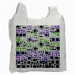 Block On Block, Purple Recycle Bag (Two Side)