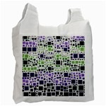 Block On Block, Purple Recycle Bag (Two Side)  Front