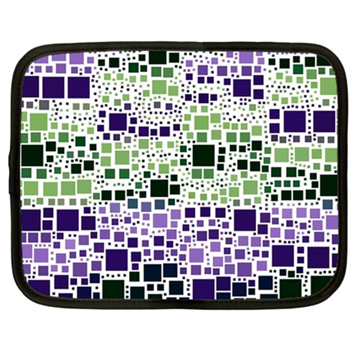 Block On Block, Purple Netbook Case (XXL)