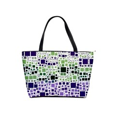 Block On Block, Purple Shoulder Handbags
