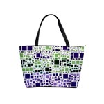Block On Block, Purple Shoulder Handbags Front