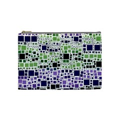 Block On Block, Purple Cosmetic Bag (Medium)