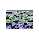 Block On Block, Purple Cosmetic Bag (Medium)  Front