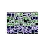 Block On Block, Purple Cosmetic Bag (Medium)  Back