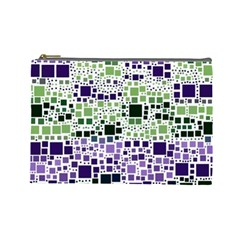 Block On Block, Purple Cosmetic Bag (Large)