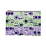 Block On Block, Purple Cosmetic Bag (Large)  Front