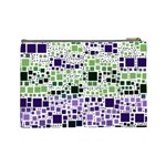 Block On Block, Purple Cosmetic Bag (Large)  Back