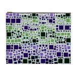 Block On Block, Purple Cosmetic Bag (XL) Front