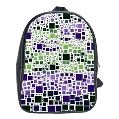 Block On Block, Purple School Bags(large)