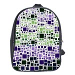 Block On Block, Purple School Bags(Large)  Front