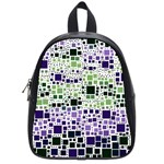 Block On Block, Purple School Bags (Small)  Front