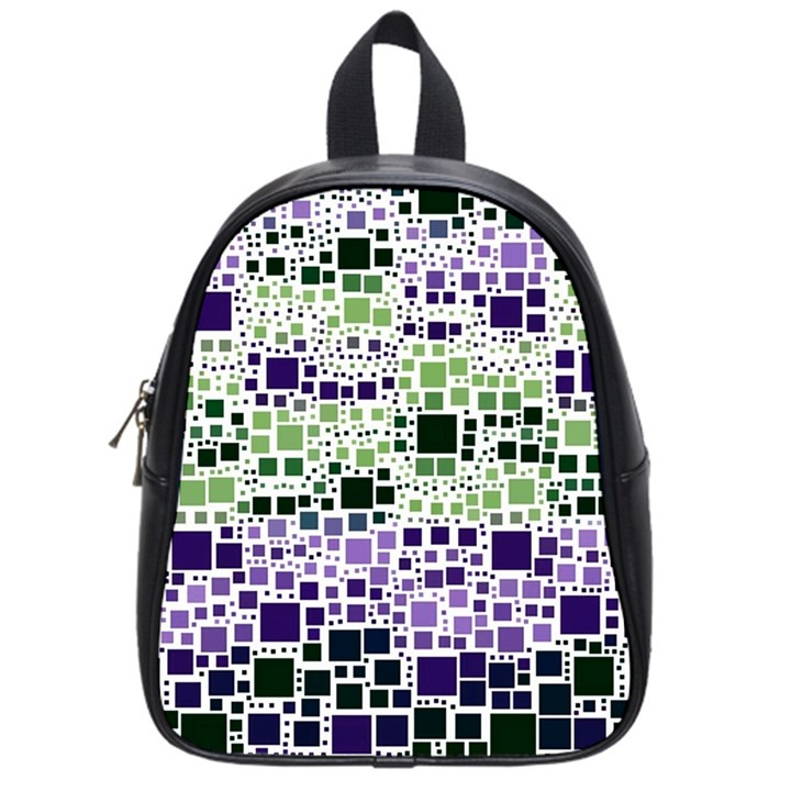 Block On Block, Purple School Bags (Small)