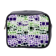 Block On Block, Purple Mini Toiletries Bag 2-Side