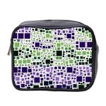 Block On Block, Purple Mini Toiletries Bag 2-Side Front