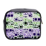 Block On Block, Purple Mini Toiletries Bag 2-Side Back
