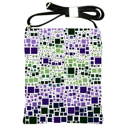 Block On Block, Purple Shoulder Sling Bags