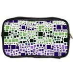 Block On Block, Purple Toiletries Bags 2-Side Front