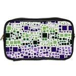 Block On Block, Purple Toiletries Bags 2-Side Back