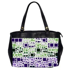 Block On Block, Purple Office Handbags (2 Sides)