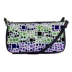 Block On Block, Purple Shoulder Clutch Bags