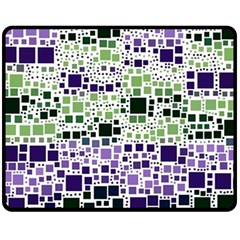 Block On Block, Purple Fleece Blanket (Medium)