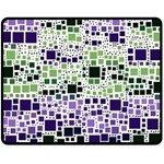Block On Block, Purple Fleece Blanket (Medium)  60 x50 Blanket Front