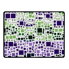 Block On Block, Purple Fleece Blanket (Small)