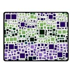 Block On Block, Purple Fleece Blanket (Small) 50 x40 Blanket Front