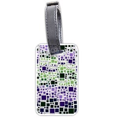 Block On Block, Purple Luggage Tags (One Side)