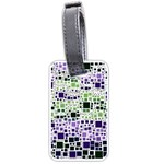 Block On Block, Purple Luggage Tags (Two Sides) Front