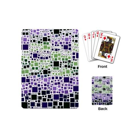 Block On Block, Purple Playing Cards (Mini)