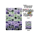 Block On Block, Purple Playing Cards 54 (Mini)  Front - SpadeK