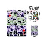 Block On Block, Purple Playing Cards 54 (Mini)  Front - Heart7