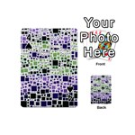 Block On Block, Purple Playing Cards 54 (Mini)  Front - Spade4