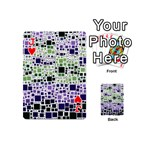 Block On Block, Purple Playing Cards 54 (Mini)  Front - HeartJ