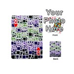 Block On Block, Purple Playing Cards 54 (Mini)  Front - HeartQ