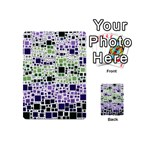Block On Block, Purple Playing Cards 54 (Mini)  Back